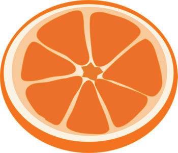 Free Clipart Illustration of an Orange Slice
