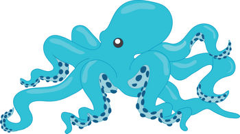 free clipart illustration of a large octopus with blue skin rh clipartguide com octopus clipart images