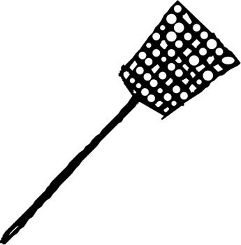 Free Clipart Picture of a Flyswatter
