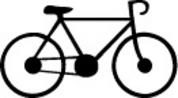 Free Clipart Picture of a Ten Speed Bike