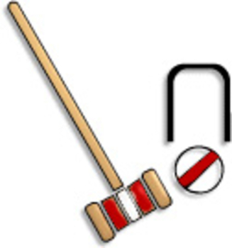 Free Clipart Picture of a Croquet Set
