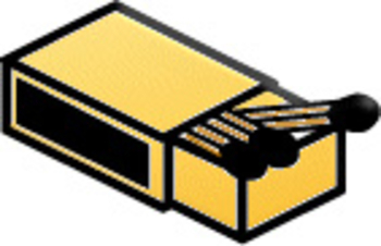 Free Clipart Picture of a Box of Wooden Matches