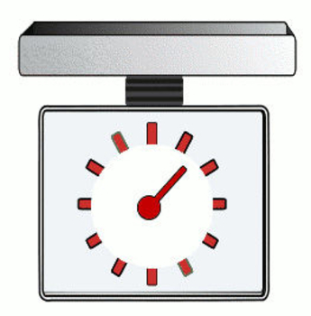 Free Clip Art Picture of a Kitchen Scale