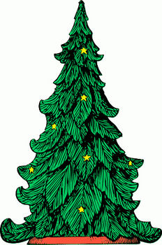 Free Clip Art Picture of an Illustration Christmas Tree