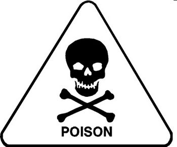 Free Poison Sign with a Skull and Crossbones