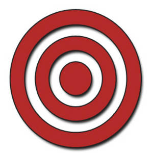 Clipart Picture of a Red Bullseye