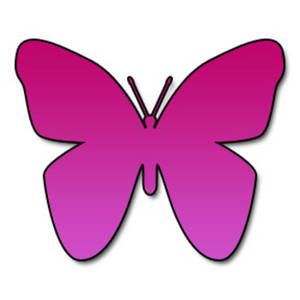Free Clipart Picture of a Hot Pink Butterfly