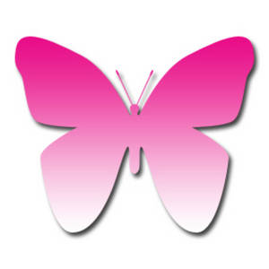 Free Clipart Picture of a Dark Pink to Light Pink Gradient Butterfly