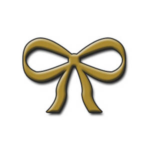 Free Clipart Image of a Gold Bow