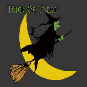 Broomstick Riding Witch