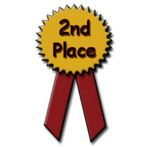Free Clipart Picture of a Second Place Ribbon