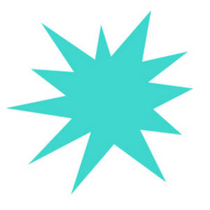 Free Clipart Picture of a Turquoise Star Burst