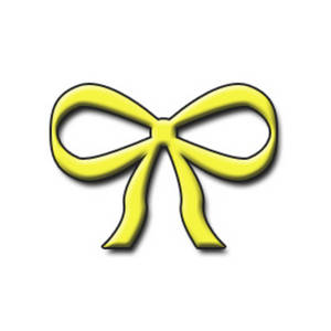 Free Clipart Graphic of a Yellow 3D Bow