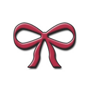 Free Clipart Image of a Red 3D Bow