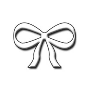 Free Clipart Graphic of a White 3D Bow