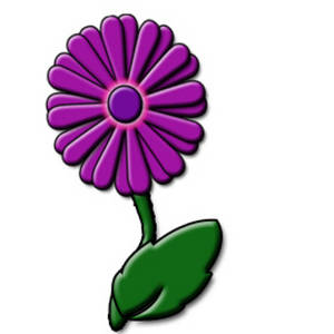 Free Clipart Picture of a Cute Purple Daisy Flower