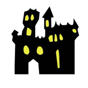 Silhouette of a Haunted Castle