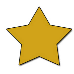 Free Web Graphic Clipart Picture of a Gold Star