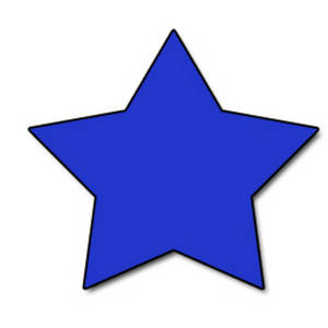 Free Clipart Picture of a Blue Star