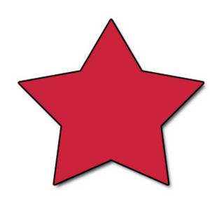 Free Web Clipart Picture of a Cherry Red Star
