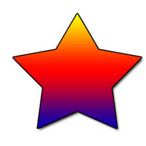 Free Web Graphic Clipart Picture of a Rainbow Star
