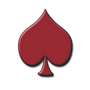 Free Clipart Picture of a Playing Card Symbol - Red Spade