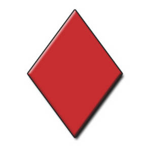 Free Clipart Web Graphic of a Playing Card Symbol - Red Diamond