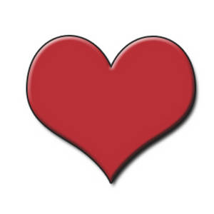 Free Clipart Picture of a Playing Card Symbol - Red Heart