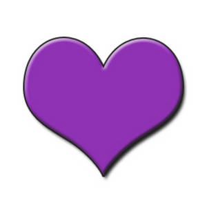 Free Clipart Picture of a Purple,  Embossed Heart