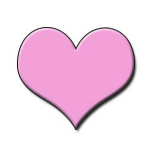 Free Clipart Picture of a Light Pink Embossed Heart