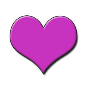Bright Pink 3D Heart