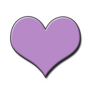 Free Clipart Image of a Lavendar Embossed Heart