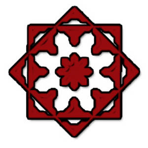 Free Low Res Clipart Picture of a Red Web Ornament