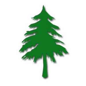 Free Clipart Picuture of a Pine Tree