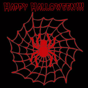 Free Halloween Clipart Picture of a Spider in a Web
