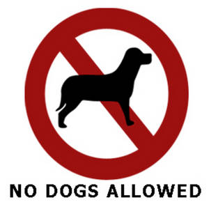 """Free Clipart Picture of a """"No Dogs Allowed"""" Sign"""