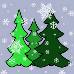 Free Clipart Picture of a Christmas Trees In the Snow