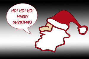 Free Clipart Picture of a Santa Graphic