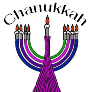 Free Clipart Picture of a Colorful Menorah
