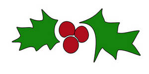 Free Clipart Picture of Christmas Holly