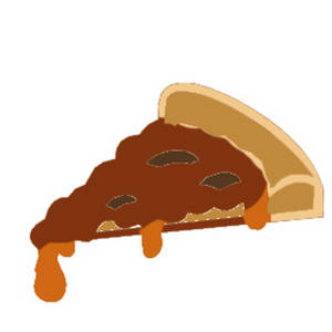 Free Clipart Picture of a Piece of Pizza