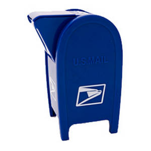Free Clipart Picture of a United States Mail Box