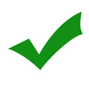 Free Clipart Picture of a Green Check Mark