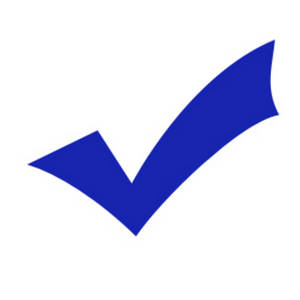 Free Clipart Picture of a Blue Check Mark