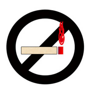 Free Clipart Picture of a No Smoking Sign