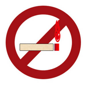 Free Clipart Image of a No Smoking Sign