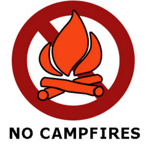 """Free Clipart Picture of a """"No Campfires"""" Sign"""
