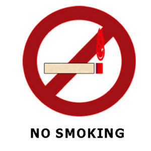 """Free Clipart Graphic of a """"No Smoking"""" Sign"""