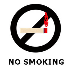 "Free Clipart Picture of a ""No Smoking"" Sign"