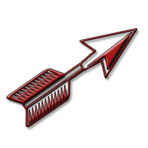 Free Clipart Illustration of a Short, Red, 3D Arrow